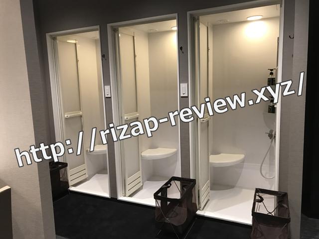 ライザップ柏店男子ロッカー室シャワールーム