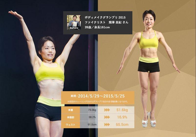 畑沢美紀さん・39歳・ライザップの口コミ・評判