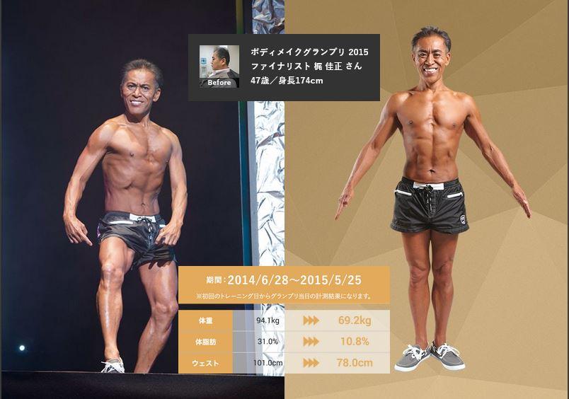 梶佳正さん・47歳・ライザップの口コミ・評判