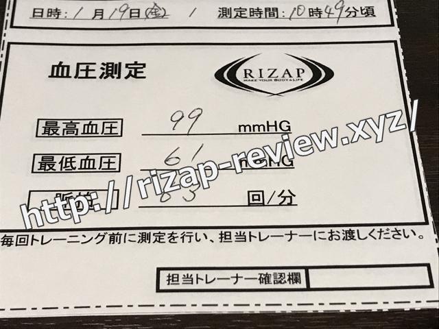 2018.1.19(金)の血圧