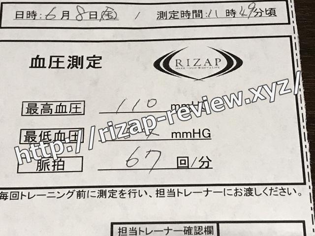 2018.6.8(金)の血圧
