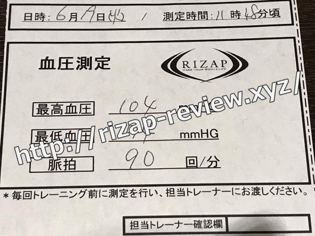 2018.6.19(火)の血圧