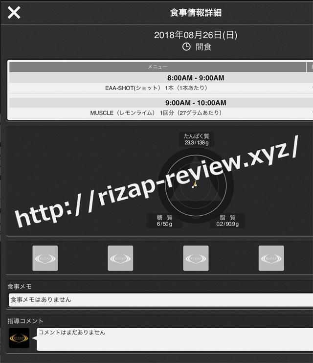 2018.8.26(日)ライザップ流の間食