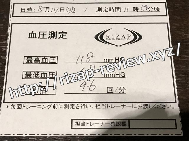 2018.8.14(火)の血圧