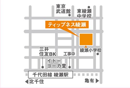 ティップネス綾瀬店マップ