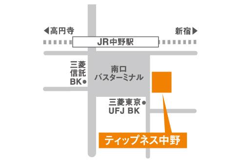 ティップネス中野店-map