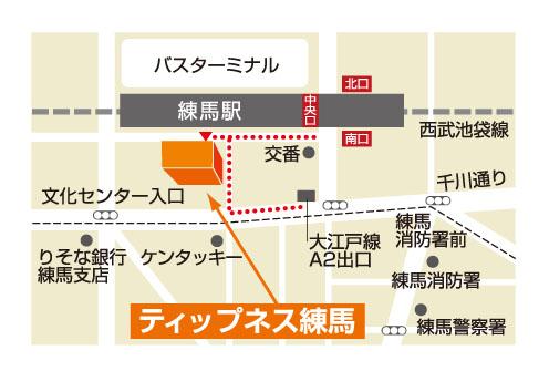 ティップネス練馬店-map