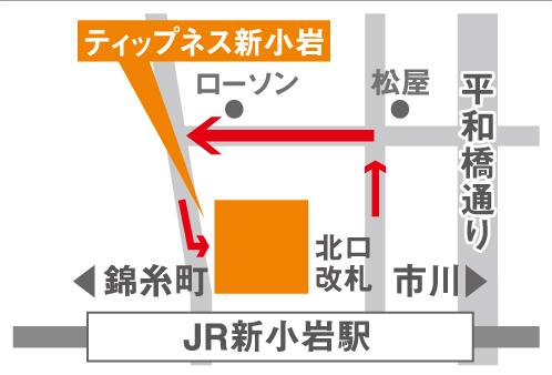 ティップネス新小岩店-map