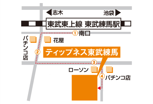 ティップネス東武練馬店-map