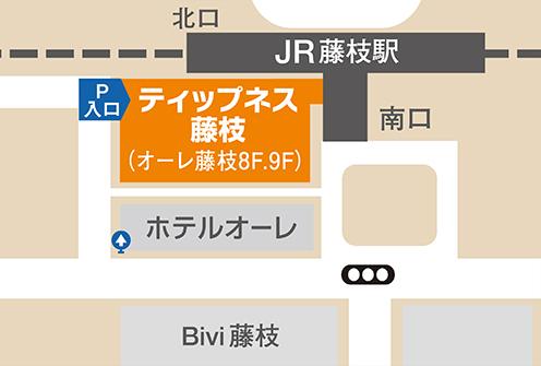 ティップネス藤枝店・map
