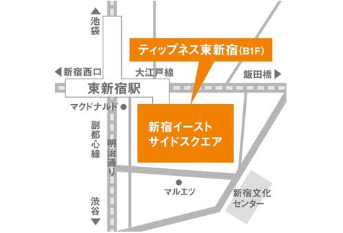 ティップネス東新宿店・map