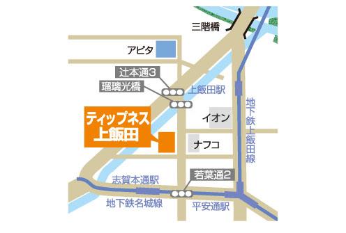 ティップネス上飯田店・map