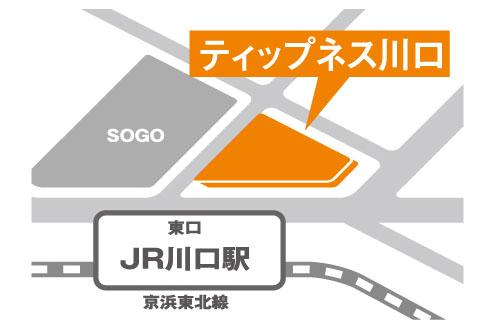 ティップネス川口店・map