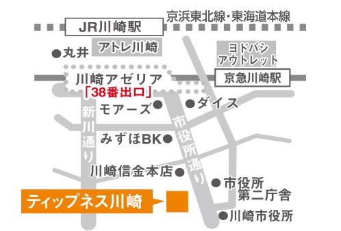 ティップネス川崎店・map