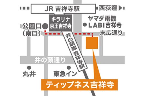 ティップネス吉祥寺店-map