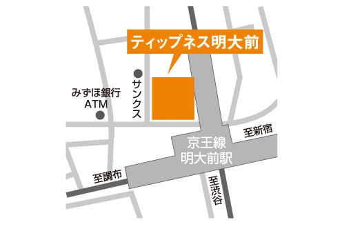 ティップネス明大前店-map