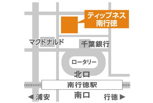 ティップネス南行徳店・map