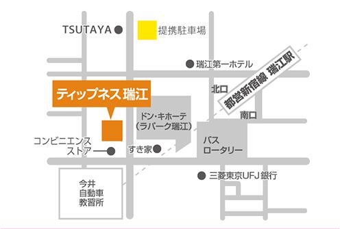 ティップネス瑞江店・map
