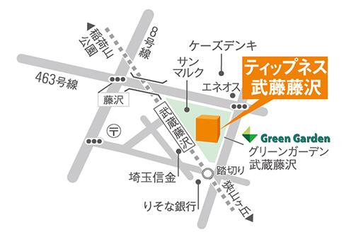 ティップネス武蔵藤沢店・map