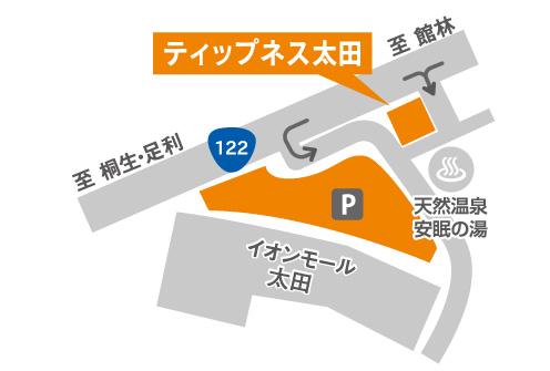 ティップネス太田店・map