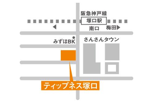 ティップネス塚口店・map