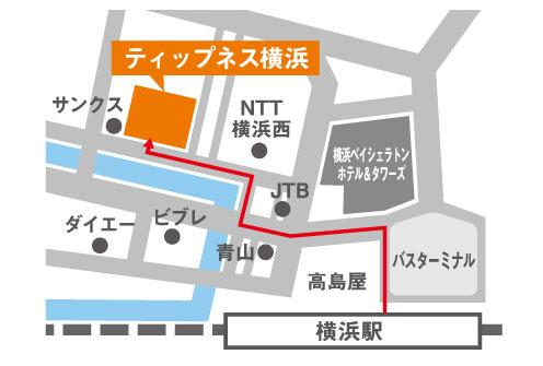ティップネス横浜店・map