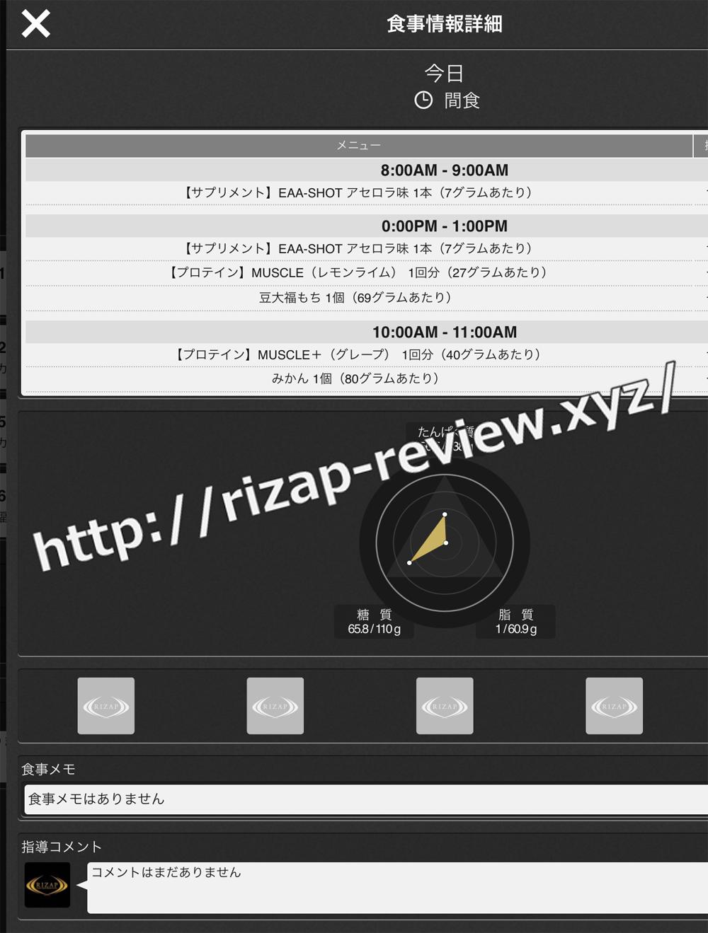 2018.11.2(金)ライザップ流の間食