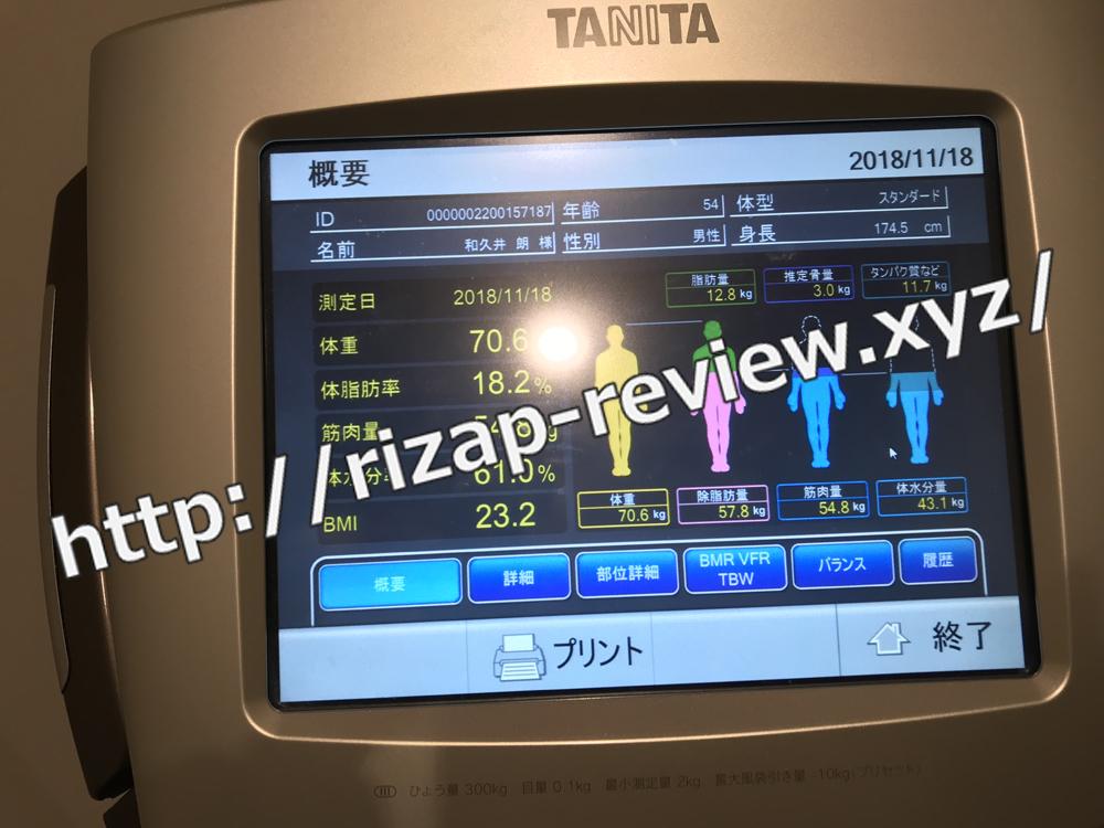 2018.11.18(日)体重計測