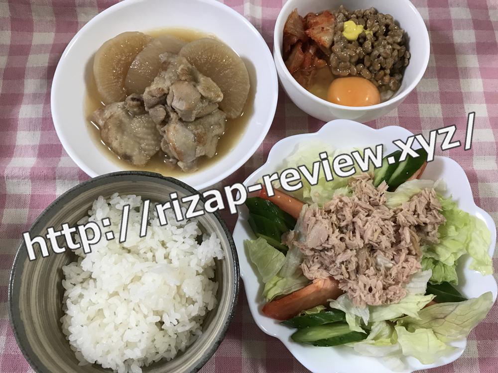 2018.12.30(日)ライザップ流の昼食