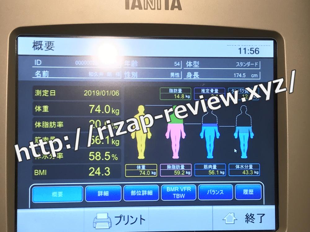 2019.1.6(日)体重計測