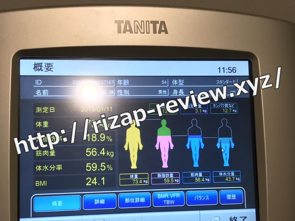 2019.1.11(金)体重計測