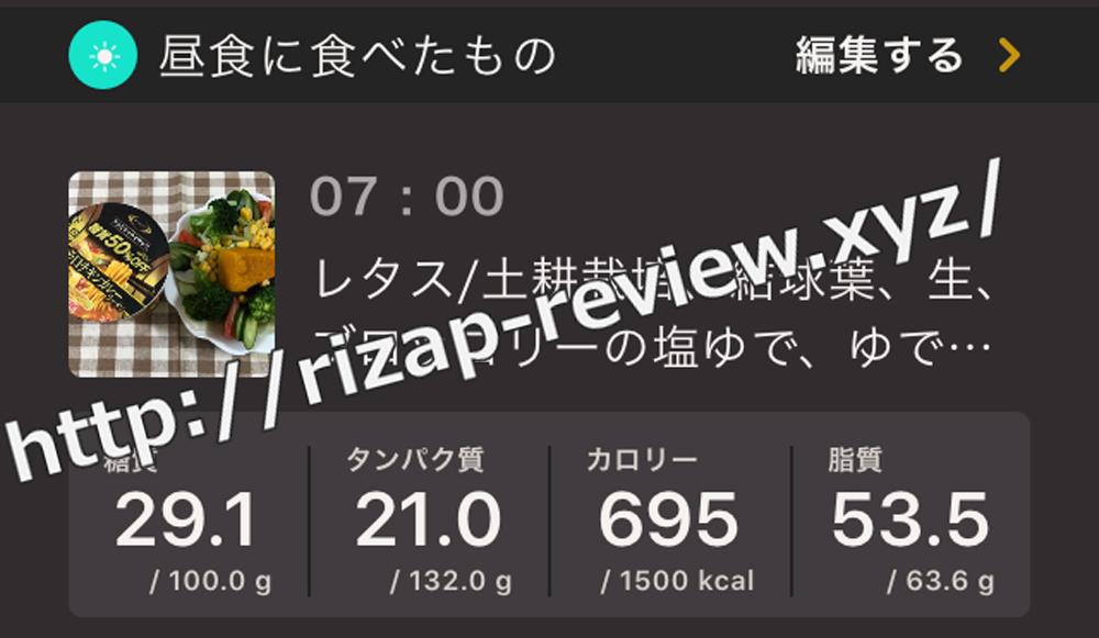 2019.1.11(金)ライザップ流の昼食