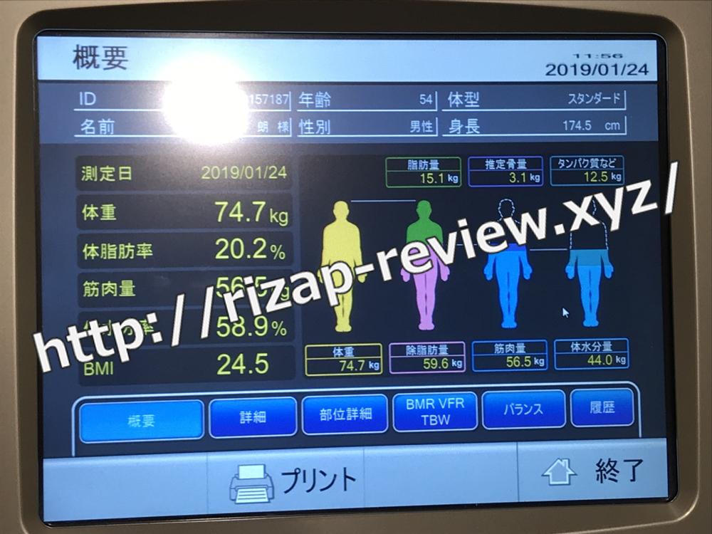 2019.1.24(木)体重計測